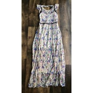Free People Cherry Blossom Ivory Lace Floral Maxi